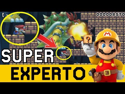 Thumbnail: Bowser COLOSAL Quiere EXTERMINARME 😲 - SUPER EXPERTO NO SKIP | Super Mario Maker - ZetaSSJ