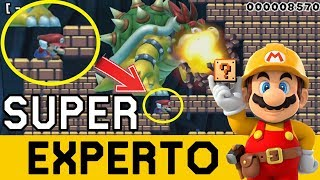 Bowser COLOSAL Quiere EXTERMINARME 😲 - SUPER EXPERTO NO SKIP | Super Mario Maker - ZetaSSJ