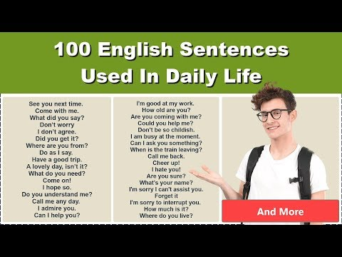 100 English Sentences Used In Daily Life    English Sentences For Daily Use   Learn to Speak English