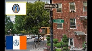 Обзор улицы Клинтон стрит. Нью-Йорк. Бруклин. New York City, Brooklyn, Clinton street. Review