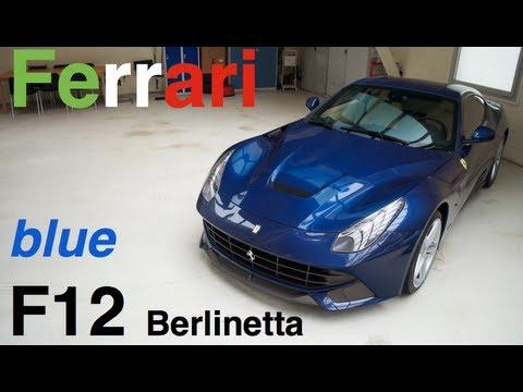 Blue Ferrari F12 Berlinetta Walkaround Details Youtube