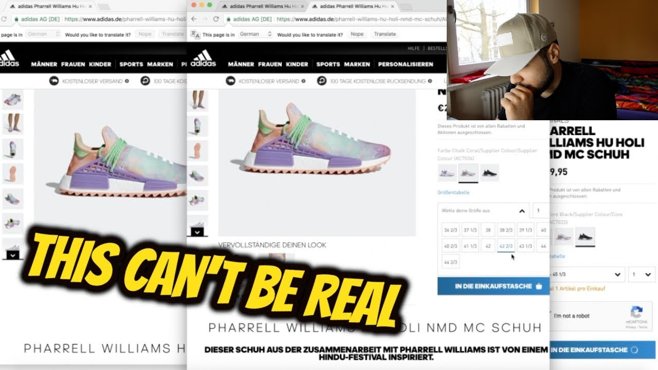 fdd289ca4d09a PHARRELL WILLIAMS HU HOLI NMD MC  LIVE COP  - YouTube
