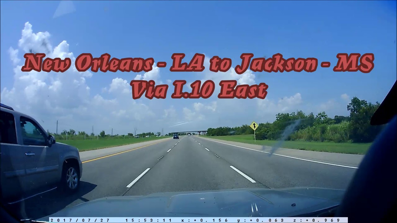 I 10 East From New Orleans La To Jackson Ms Youtube