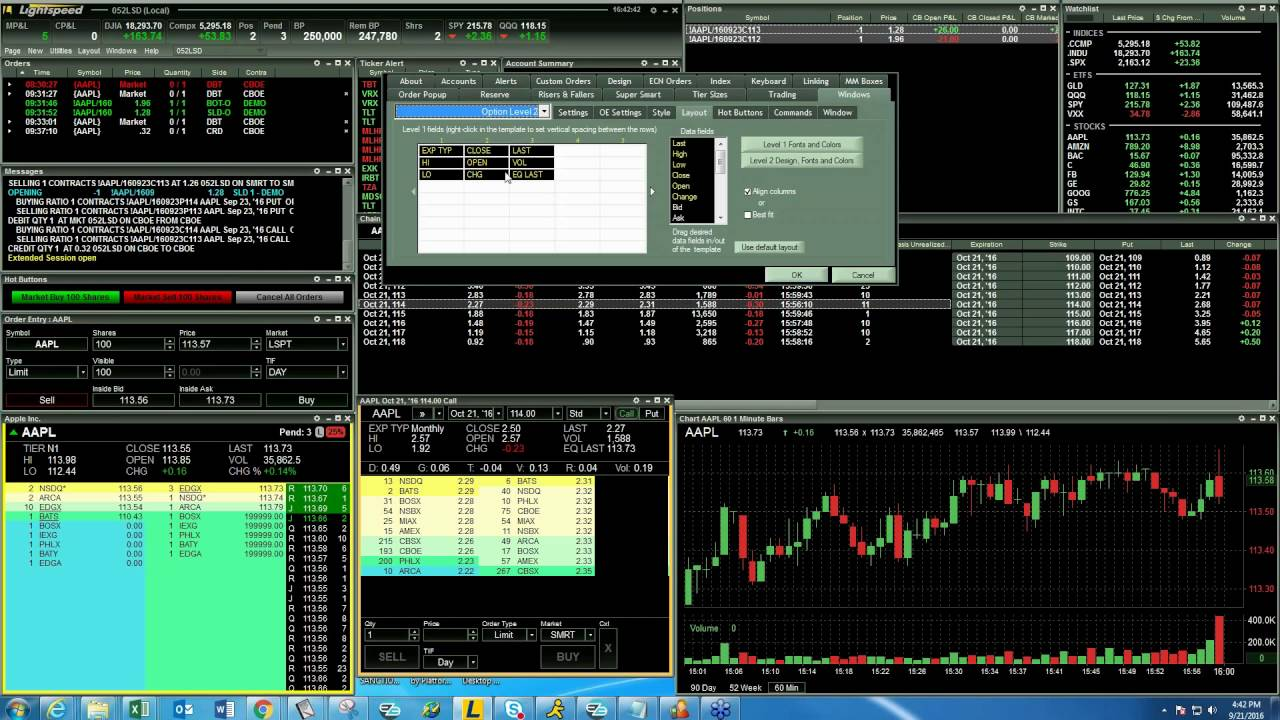 Options Trading On Lightspeed Trader Youtube