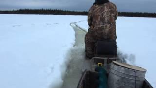 Снегоход буран прёт как трактор
