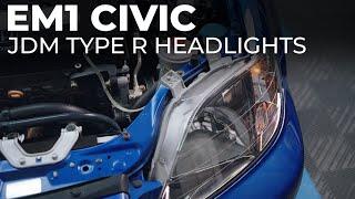 EM1 Civic Gets JDM Headlights