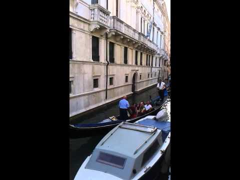Gondolier Singing in Venice