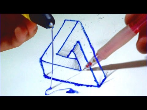 dessin illusion avec le stylo 3d scribbler youtube. Black Bedroom Furniture Sets. Home Design Ideas