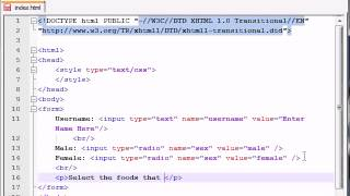 XHTML and CSS Tutorial   41   Check Boxes & Radio Buttons   YouTube 360p