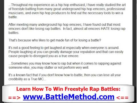 How to Win Freestyle Rap Battles - Part 1 - YouTube