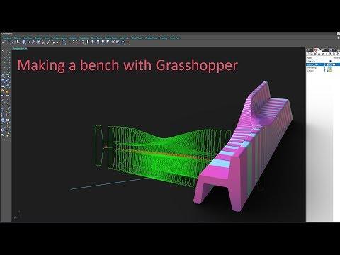 Grasshopper 3D Basics: Sliced Bench