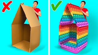 POP IT HOUSE!   Wonderful Parenting Crafts, Hacks And Gadgets That Will Amaze Your Kids