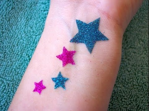 Homemade glitter tattoo youtube for Where to get glitter tattoos