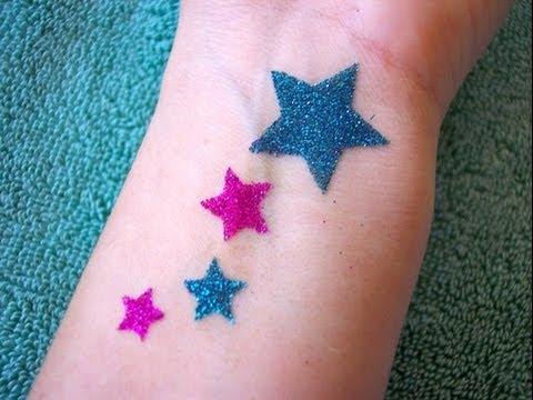 homemade glitter tattoo