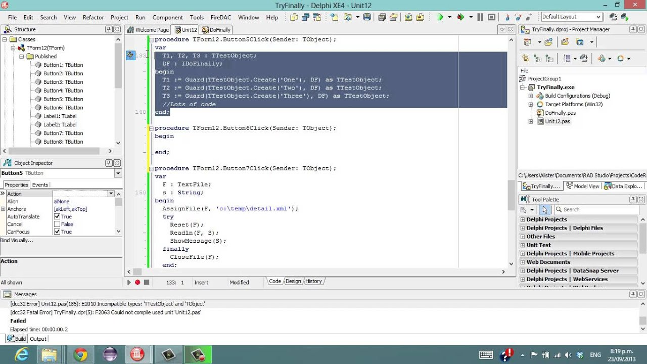 Delphi Programming Tutorial #96 - Escaping the Try...Finally ...
