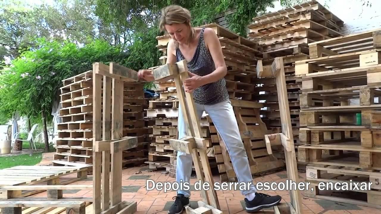 Armario Pax Ikea Puertas Correderas ~ Aparador feito de paletes YouTube
