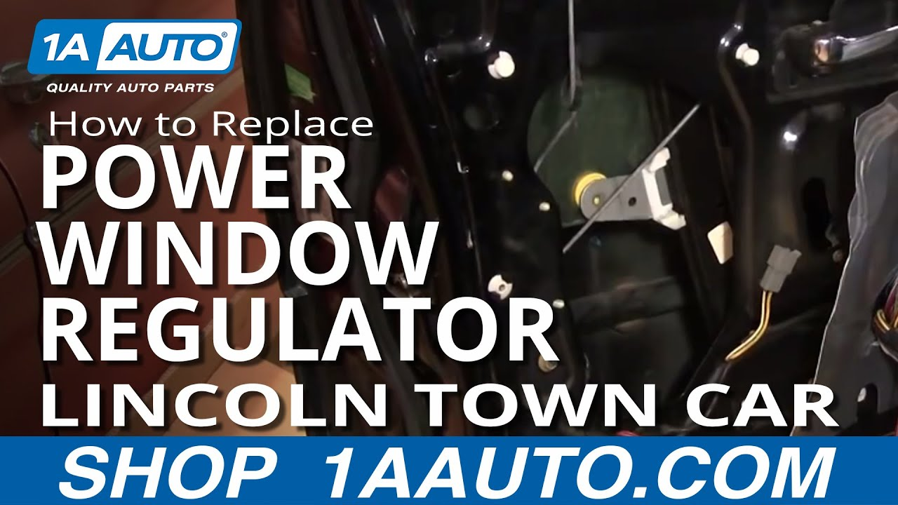 how to replace install power window regulator without motor part 1 lincoln town car 98 02 1aauto com [ 1280 x 720 Pixel ]