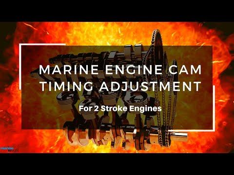 Marine 2-Stroke Engine Cam Timing Adjustment