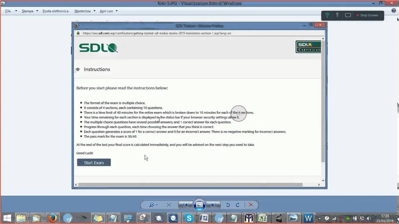 2015 Sdl Certification Exam Youtube