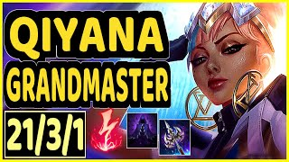 NOMANZ (QIYANA) - 21/3/1 KDA MID GAMEPLAY - EUW Ranked GRANDMASTER
