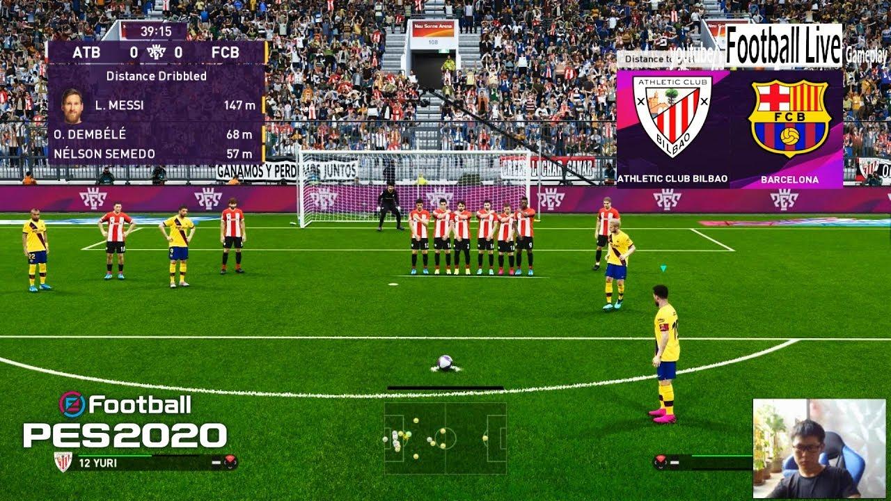 PES 2020 | Athletic Bilbao vs Barcelona | L.Messi Free ...
