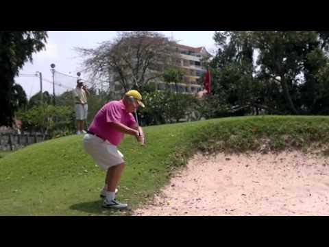 4th Hole ZZ Bunker Shot Asia Pattaya Golf Course Thailand