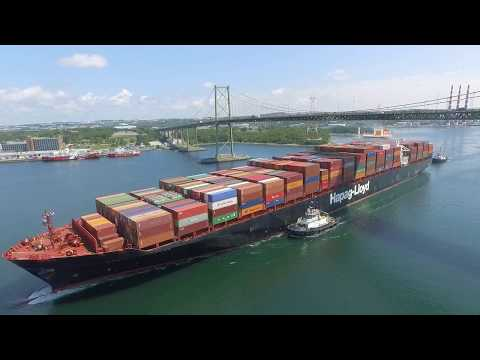 Awesome Aerial View - Container Ship DALIAN EXPRESS - MacKay