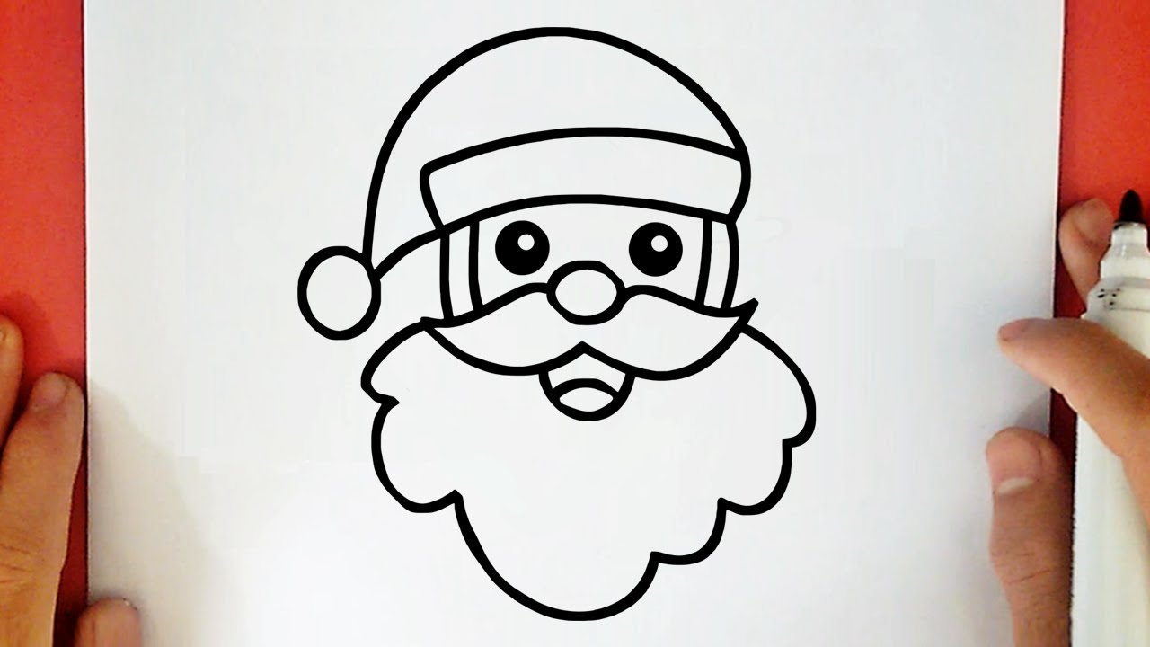 Comment Dessiner Un Pere Noel Youtube