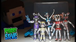 FNAF Five Nights at Freddy's BOOTLEG Sister Location Chrome Figures Bibybab TOY Fake Jumpscare