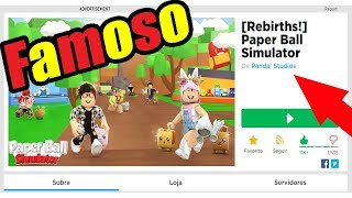 MY FRIEND's game went TO the TOP of ROBLOX!!!! * Paper Ball Simulator *