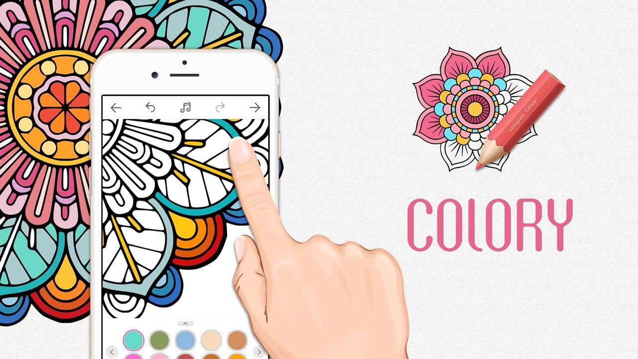 colory - the best adult coloring book app-garden designs, mandalas,  animals, and paisley patterns