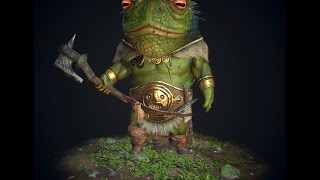 Toad Warrior - Substance painter practice!