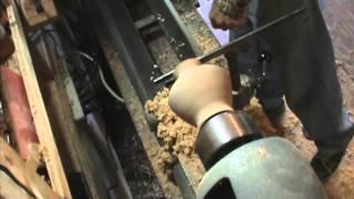 Small Necked Oak Vase Wood Turning By Al Furtado
