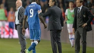 Czech Republic 0x0 Italy - Balotelli is sent Off (Red Card) 07/06/2013