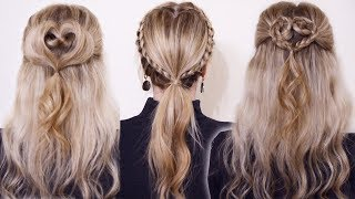 ТОП 5 ПРИЧЕСКИ НА ДЕНЬ СВЯТОГО ВАЛЕНТИНА / Valentines Day Hairstyle ❤ . SVETA RASH