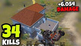 NEW WORLD RECORD 6054 DAMAGE!!! | 34 KILLS SOLO VS SQUADS | PUBG MOBILE