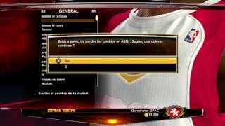 Crear equipo para probar plantilla offline - NBA 2K13
