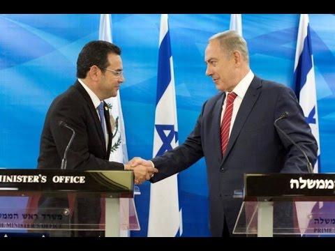 Presidente de Guatemala firma acuerdos bilaterales con primer ministro de Israel