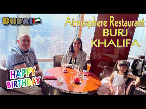 Atmosphere Restaurant Burj Khalifa Dubai | Hubby's Birthday | One of the Best Restaurant in Dubai