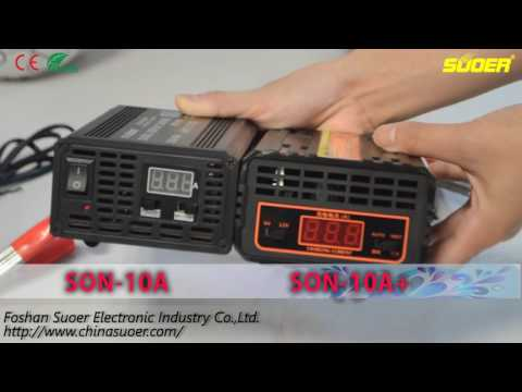 Suoer New Fast Battery Charger 6V/12V/24V 10A/20A With LED Screen Display(SON-10A+/20A+)