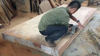 How To Build A Extremely Large Dining Table From Hardwood // Amazing Woodworking Project!!!