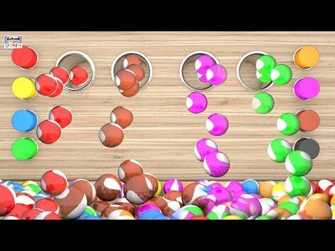 Learn Colors With 3D Marble Balls Cookie Swirl Compilation - Best Fun Learning Collection