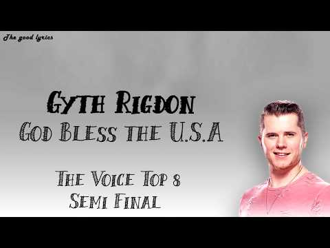 Gyth Rigdon - God Bless The U.S.A (Lyrics) - The Voice Top 8 Semi-Final - 2019