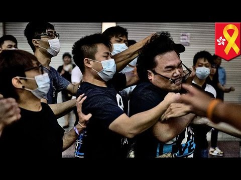Bloody attack on pro-democracy protesters in Hong Kong