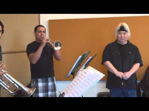 Eric Miyashiro rehearsing Birdland - Speakin´Jazz Big Band