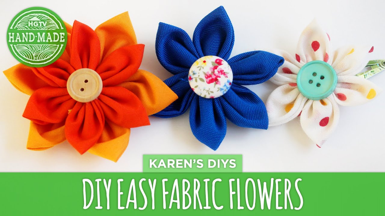 DIY Easy Fabric Flowers