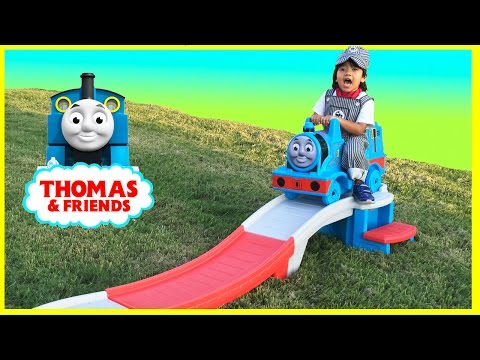 Thumbnail: Step2 THOMAS THE TANK ENGINE Up & Down Roller Coaster Thomas and Friends Disney Cars Toys McQueen
