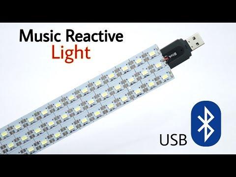 Bluetooth Music Reactive Light | how to make music reactive light USB powered