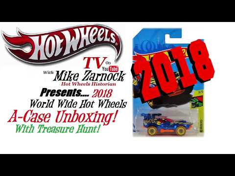 Unboxing Hot Wheels 2018 A Case with Treasure Hunt!