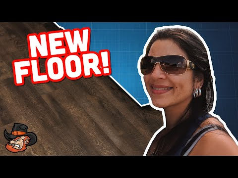 DIY RV (vinyl) wood flooring install // Fleetwood Bounder // RV Upgrade